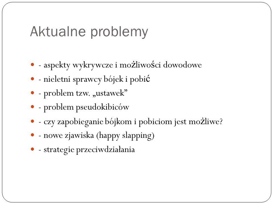 Aktualne problemy - aspekty wykrywcze i możliwości dowodowe