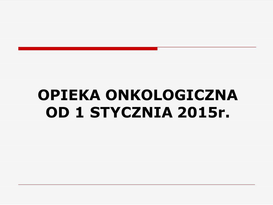 OPIEKA ONKOLOGICZNA OD 1 STYCZNIA 2015r.