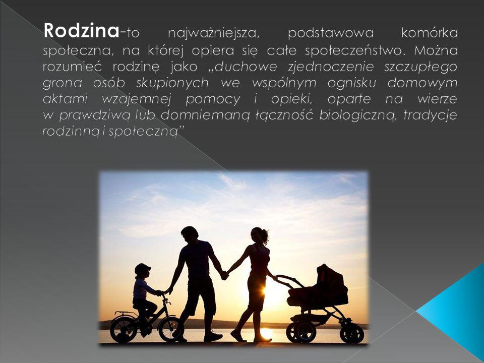 Rodzina-to najważniejsza, podstawowa komórka społeczna, na której opiera się całe społeczeństwo.