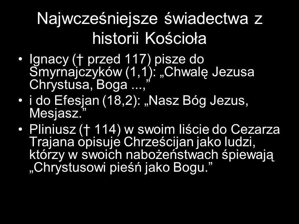 Najwcześniejsze świadectwa z historii Kościoła