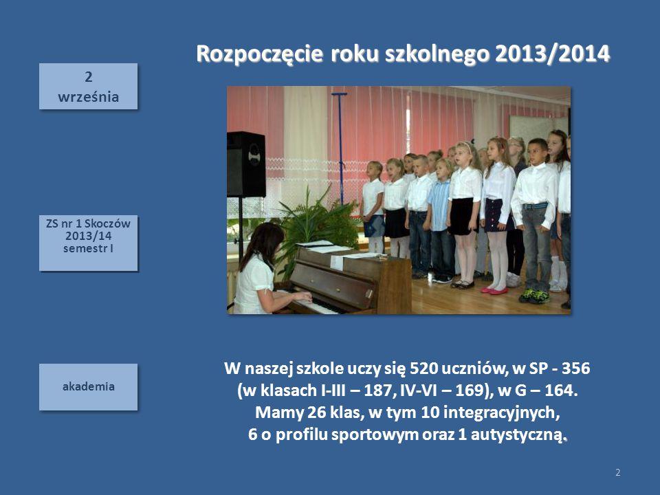 Rozpoczęcie roku szkolnego 2013/2014