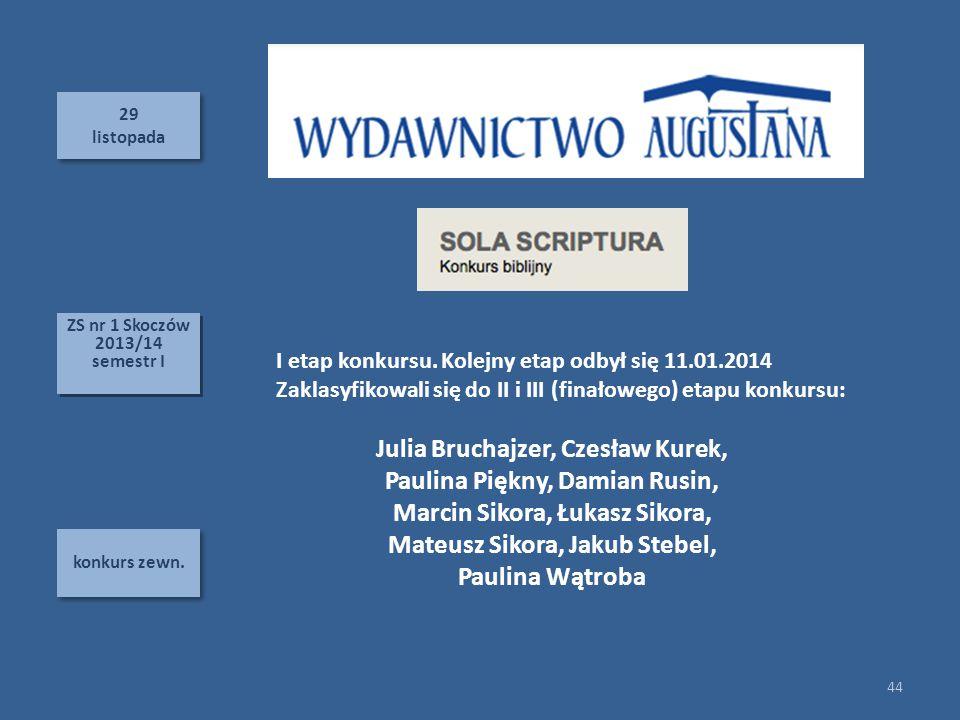 Julia Bruchajzer, Czesław Kurek, Paulina Piękny, Damian Rusin,