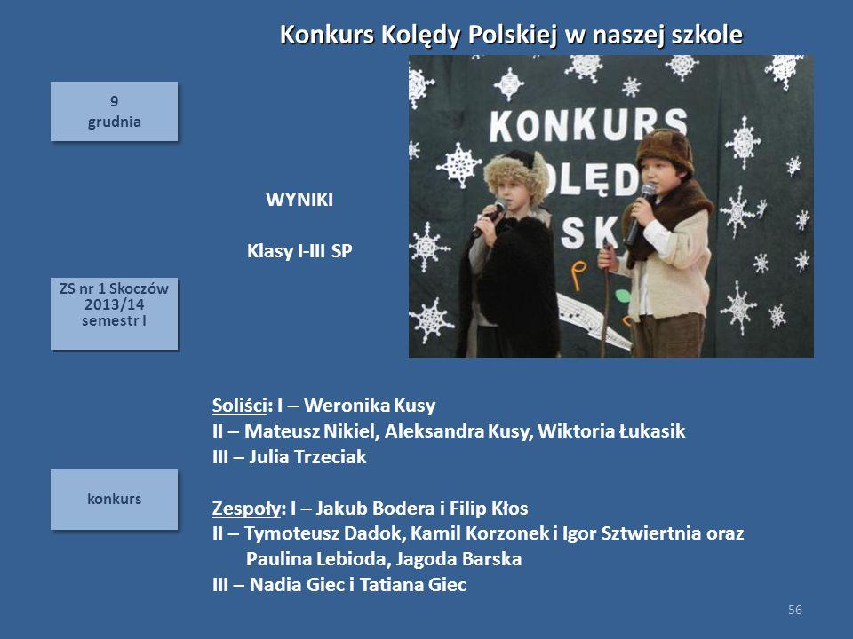 Konkurs Kolędy Polskiej w naszej szkole