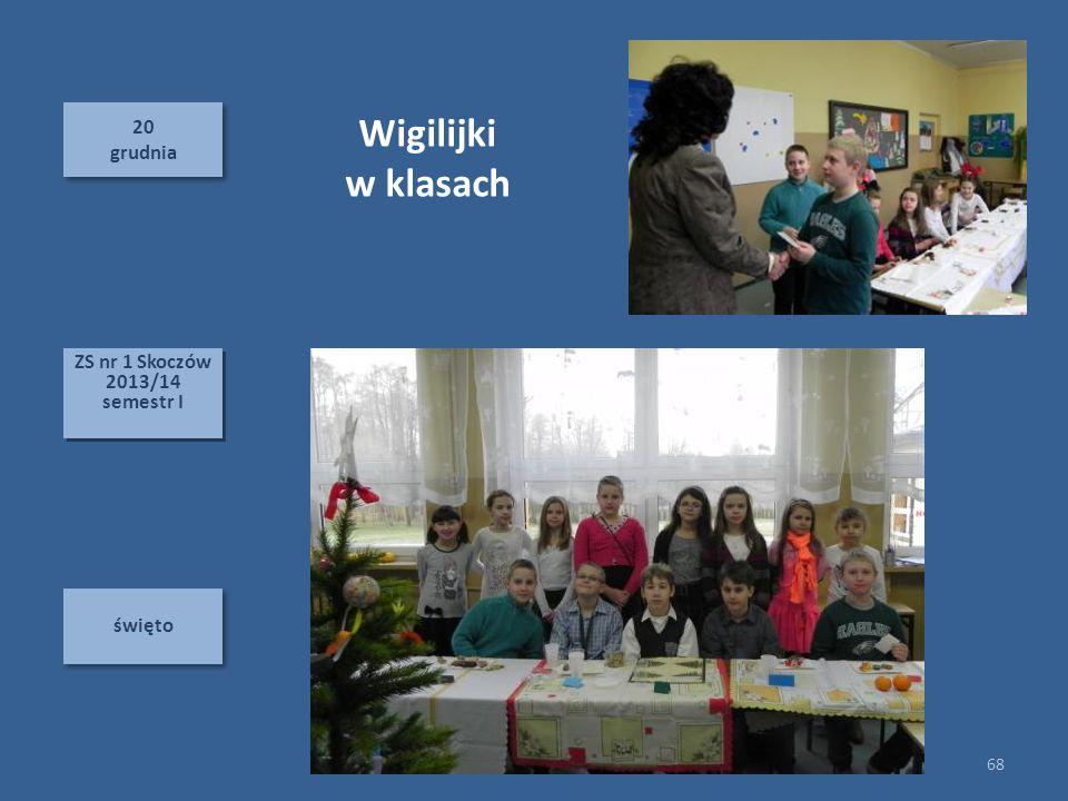 Wigilijki w klasach 20 grudnia ZS nr 1 Skoczów 2013/14 semestr I