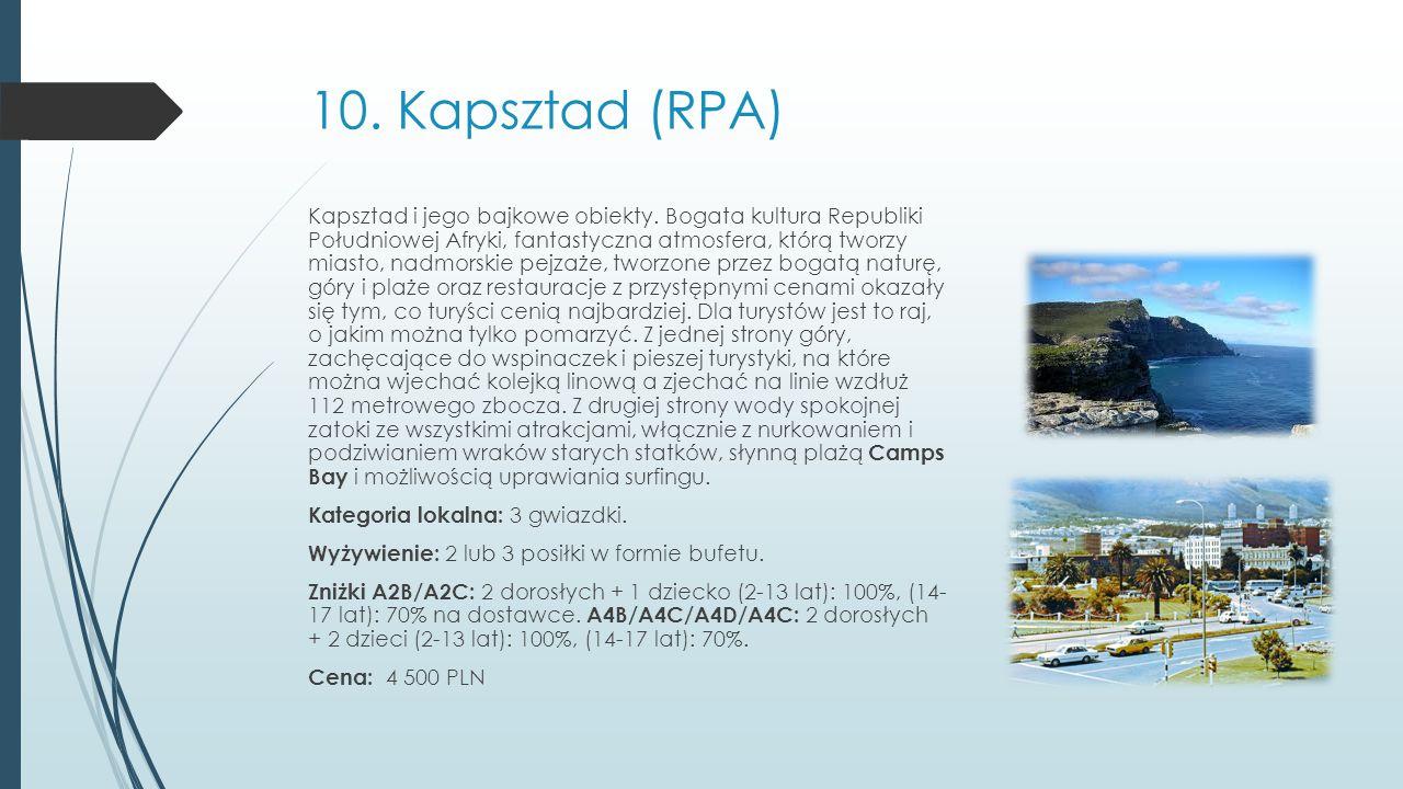 10. Kapsztad (RPA)
