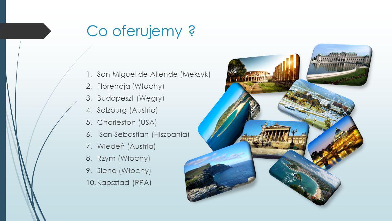 Co oferujemy San Miguel de Allende (Meksyk) Florencja (Włochy)