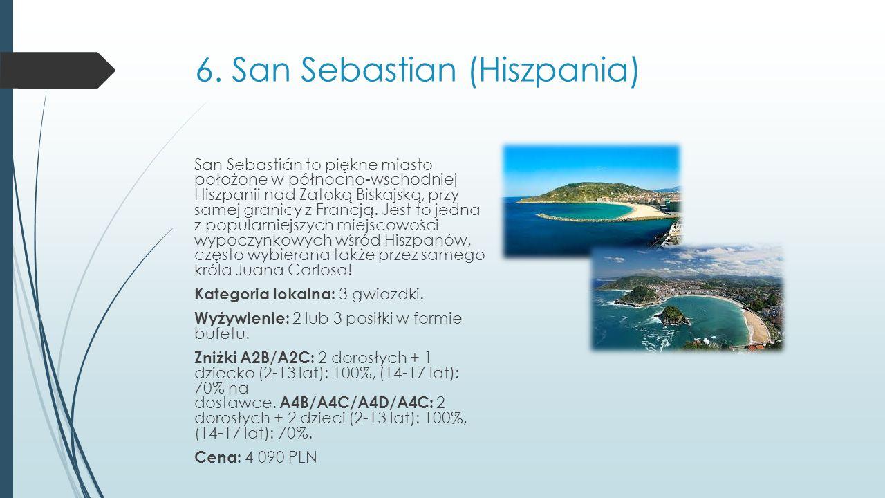 6. San Sebastian (Hiszpania)