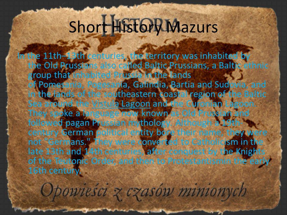 Short History Mazurs