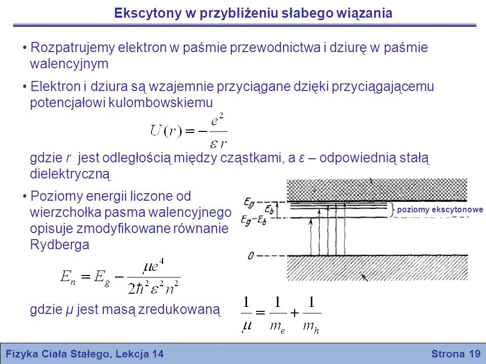 Fizyka Ciała Stałego, Lekcja 14 Strona 19