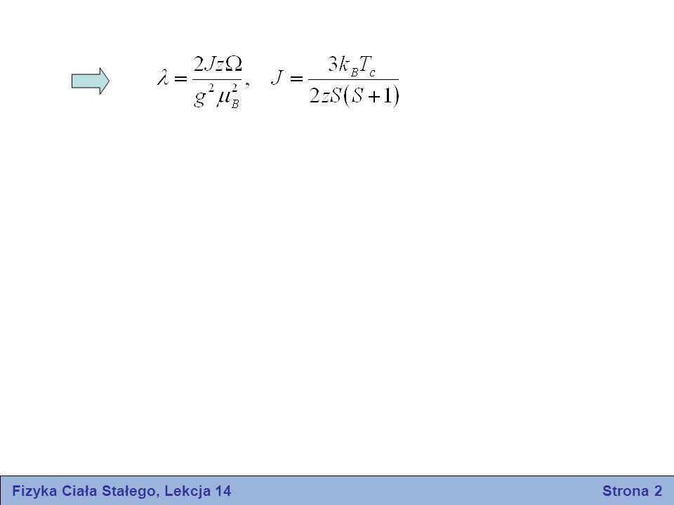 Fizyka Ciała Stałego, Lekcja 14 Strona 2