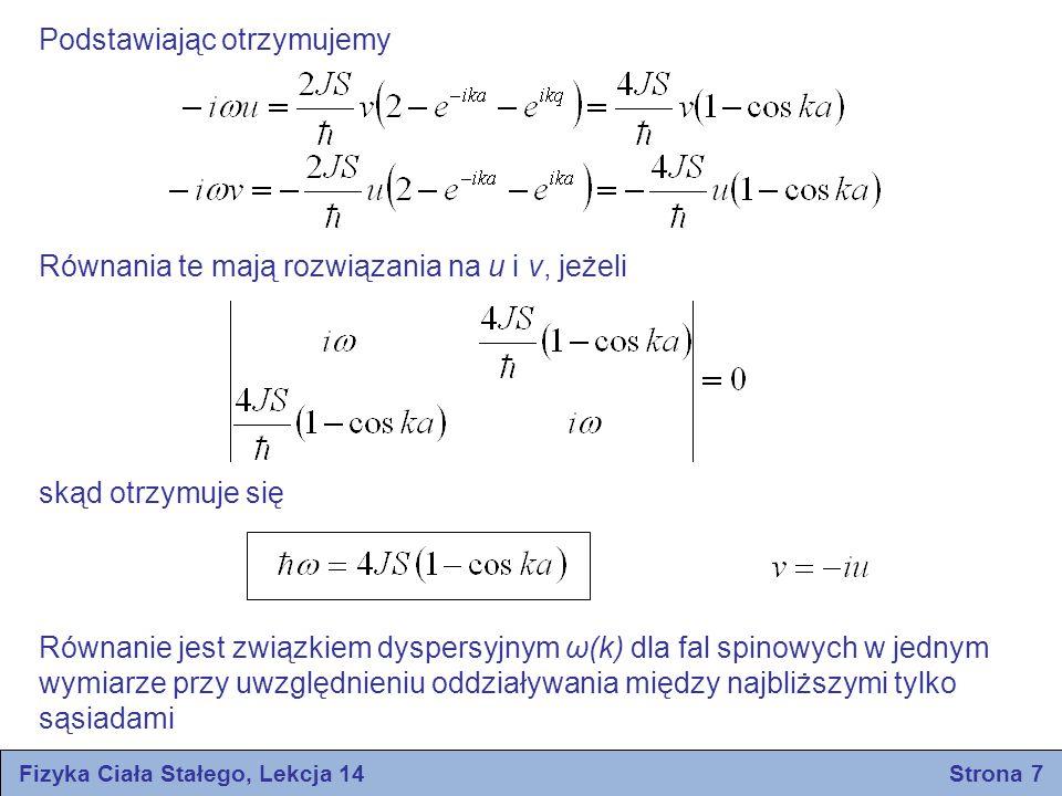 Fizyka Ciała Stałego, Lekcja 14 Strona 7