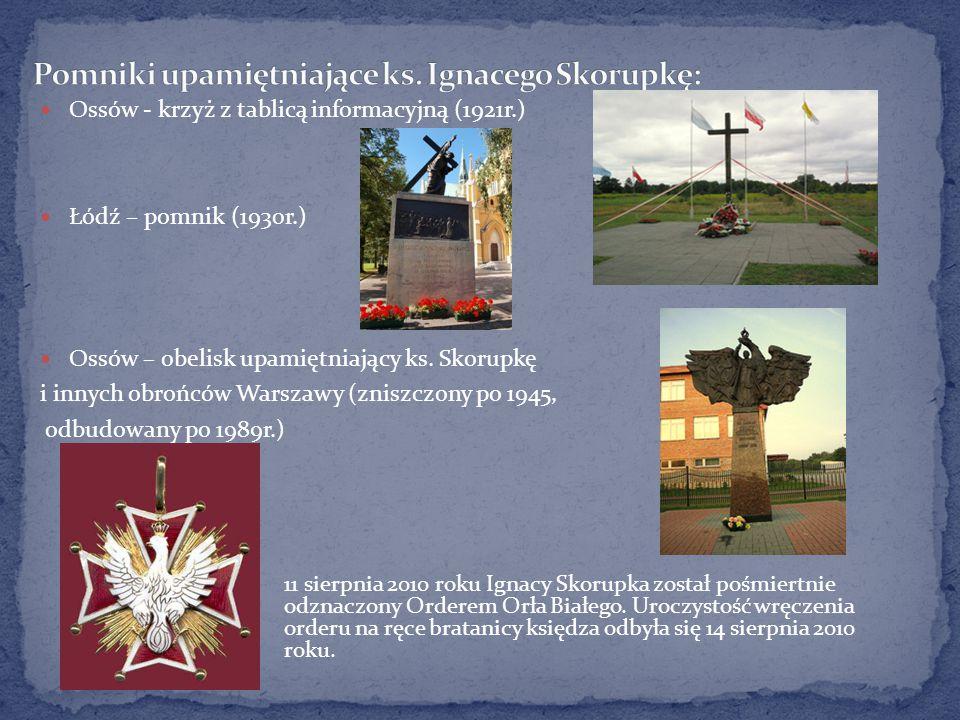Pomniki upamiętniające ks. Ignacego Skorupkę:
