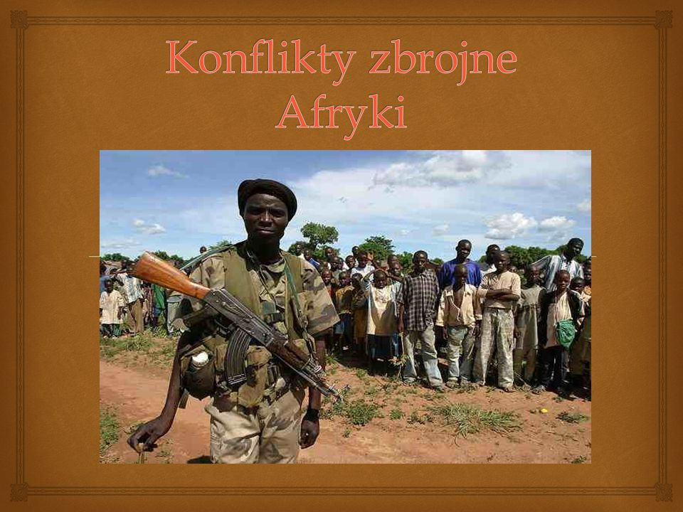 Konflikty zbrojne Afryki