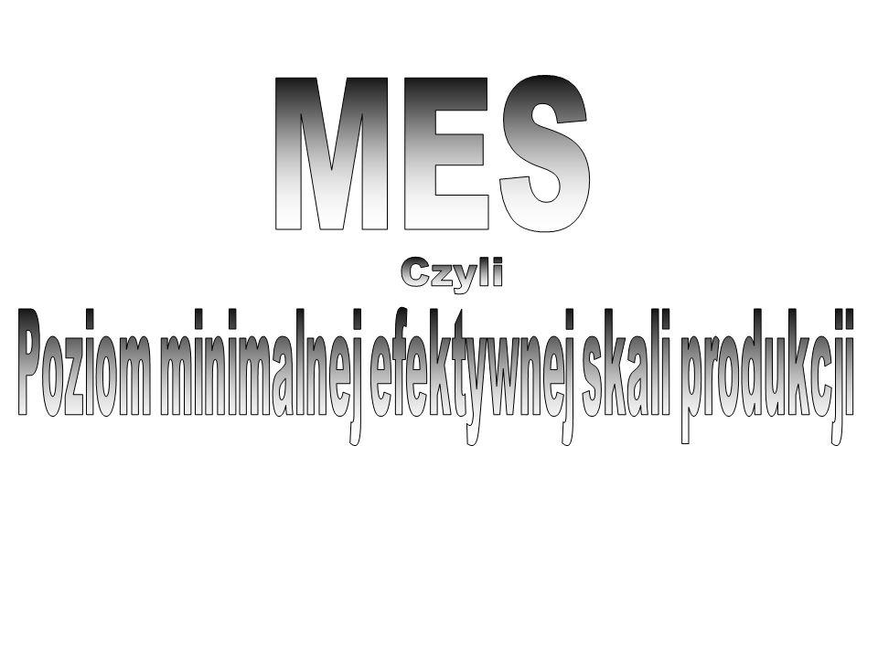MES Czyli Poziom minimalnej efektywnej skali produkcji