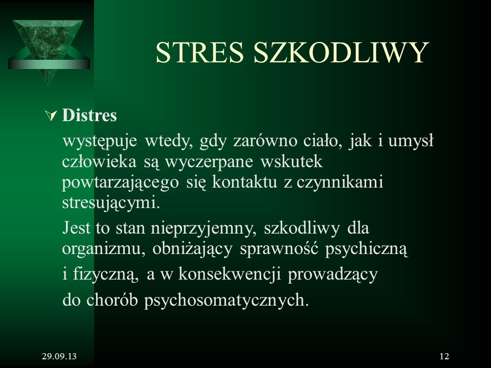 STRES SZKODLIWY Distres