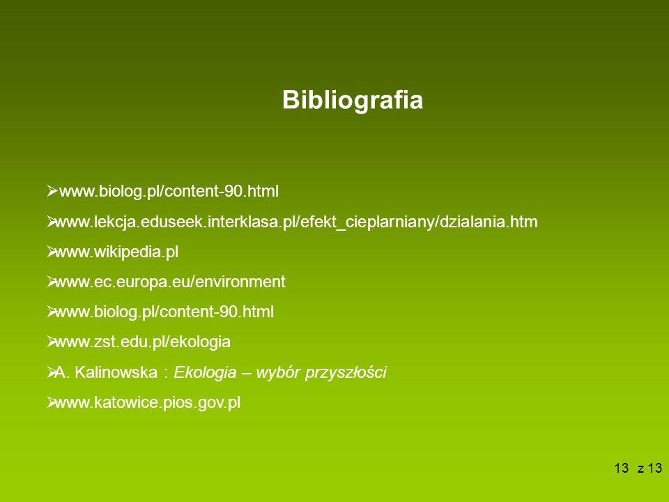 Bibliografia www.biolog.pl/content-90.html