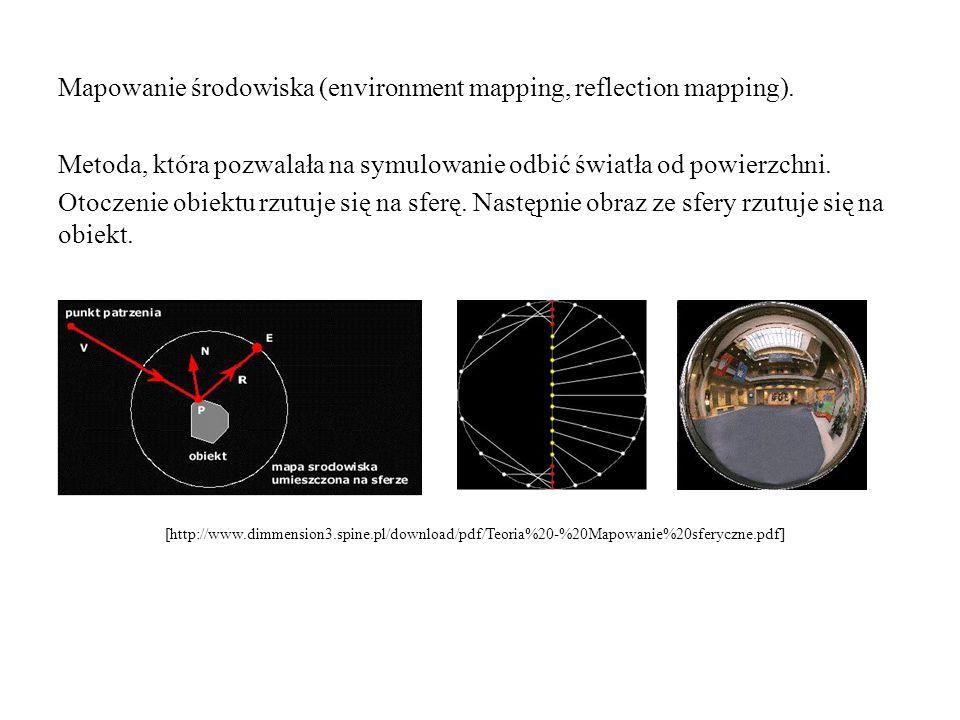 Mapowanie środowiska (environment mapping, reflection mapping)