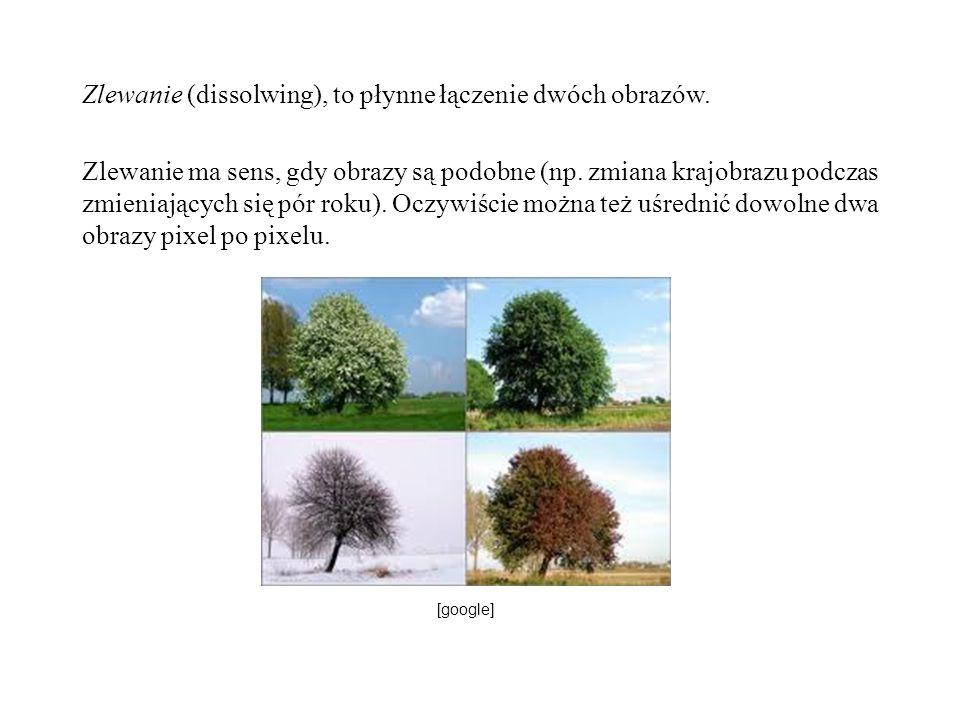 Zlewanie (dissolwing), to płynne łączenie dwóch obrazów