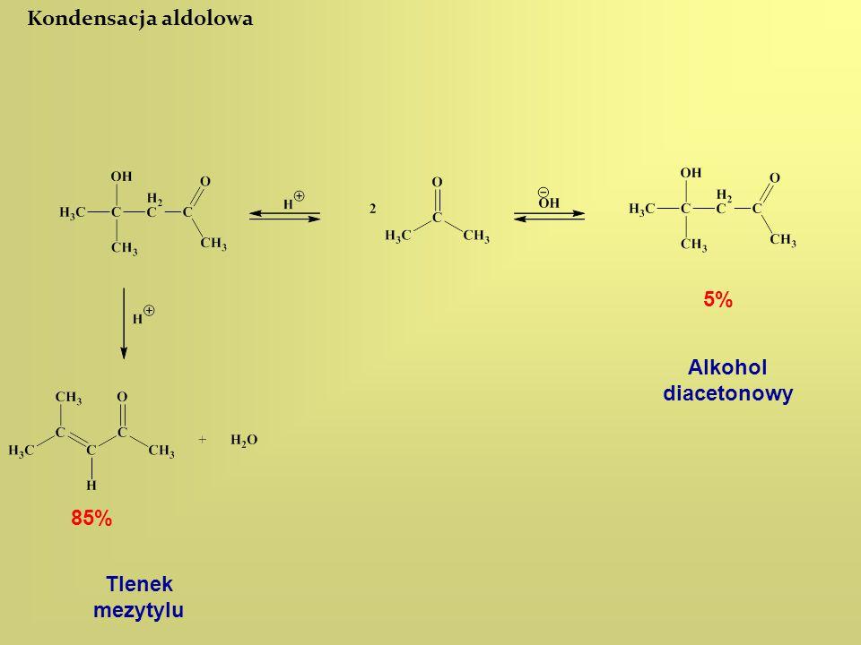 Kondensacja aldolowa 5% Alkohol diacetonowy 85% Tlenek mezytylu