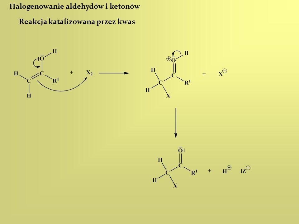Halogenowanie aldehydów i ketonów