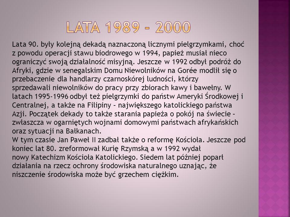 Lata 1989 - 2000