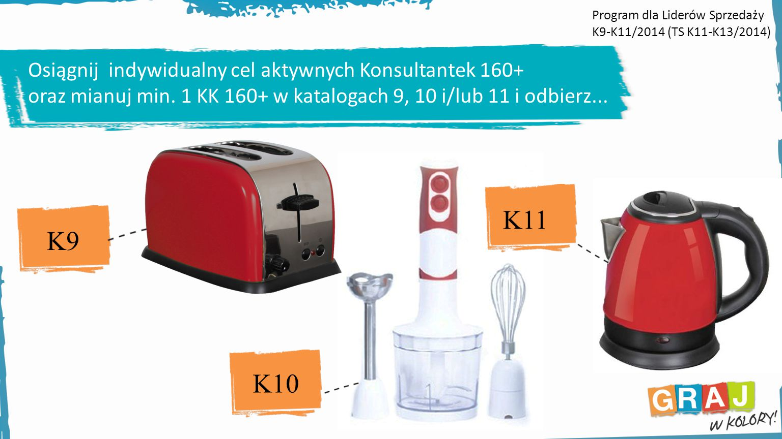 K11 K9 K10 Osiągnij indywidualny cel aktywnych Konsultantek 160+