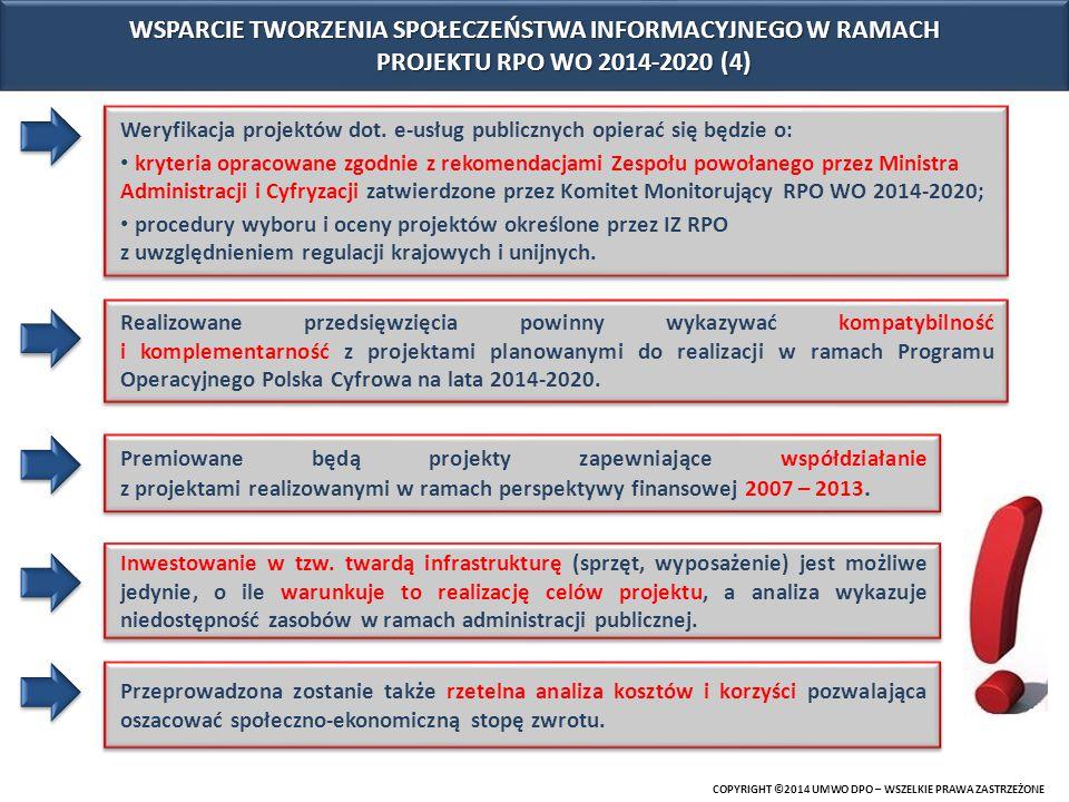 WSPARCIE TWORZENIA SPOŁECZEŃSTWA INFORMACYJNEGO W RAMACH PROJEKTU RPO WO 2014-2020 (4)