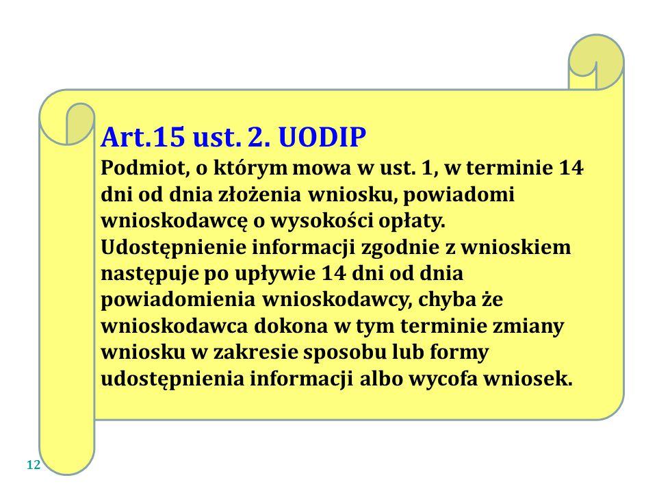 Art.15 ust. 2. UODIP