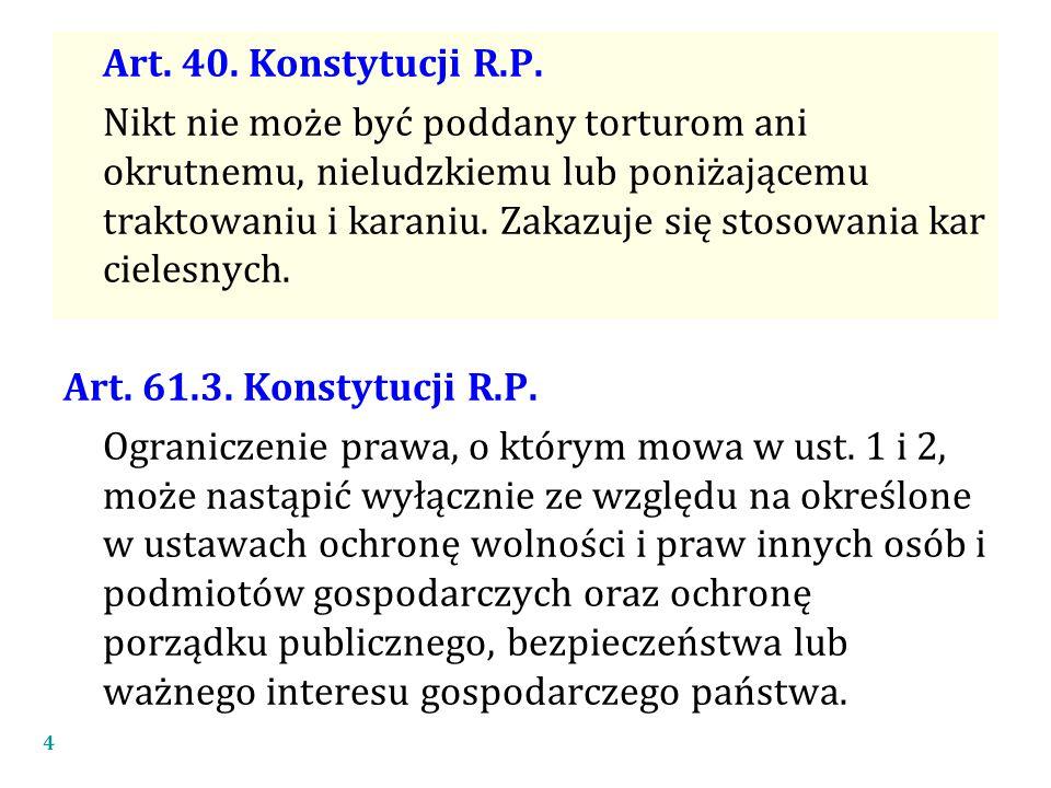 Art. 40. Konstytucji R.P.