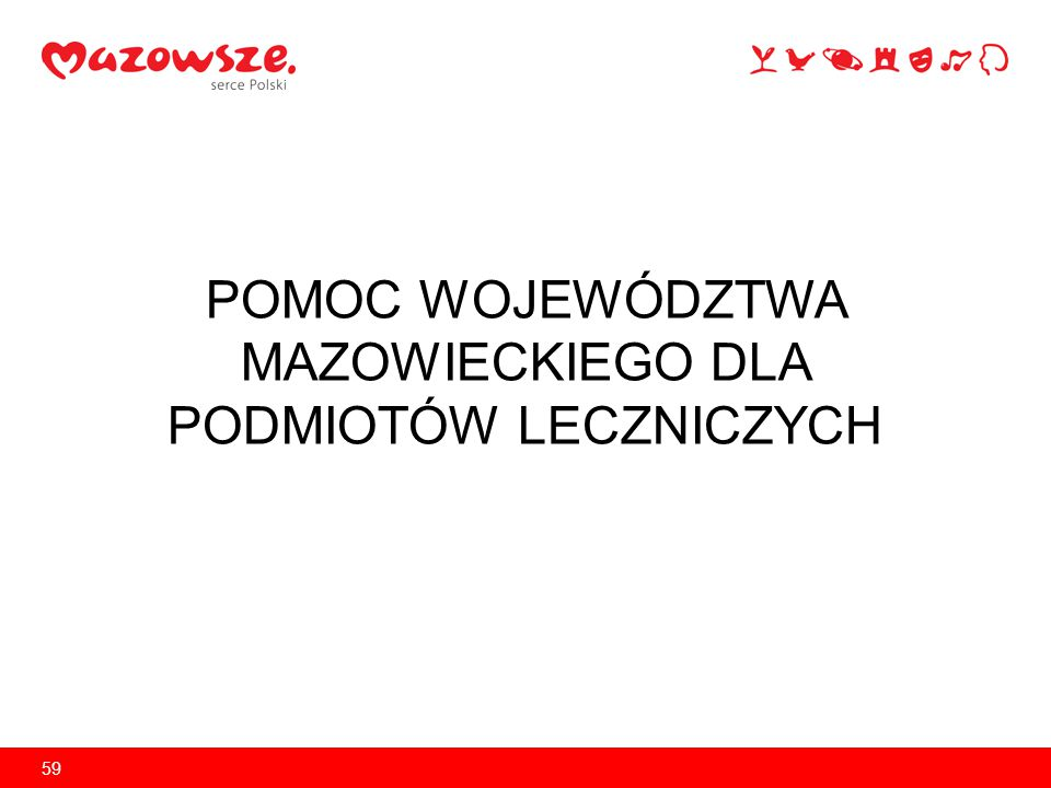 Pomoc Województwa Mazowieckiego dla podmiotów leczniczych