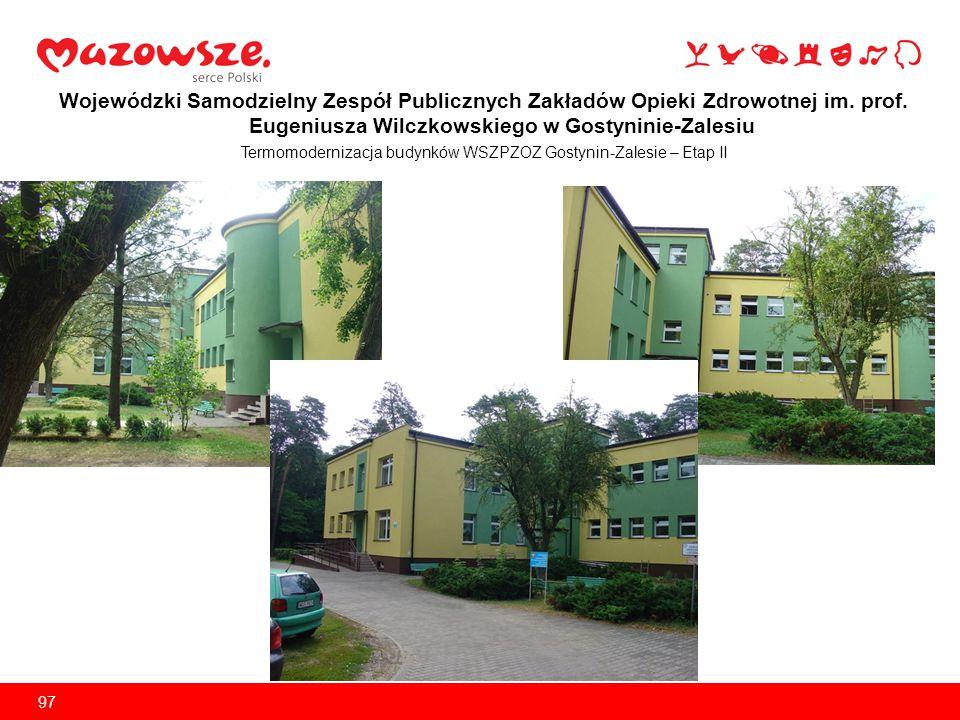 Termomodernizacja budynków WSZPZOZ Gostynin-Zalesie – Etap II
