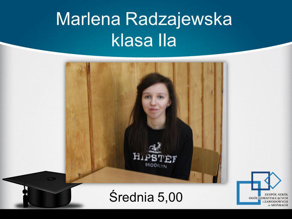 Marlena Radzajewska klasa IIa