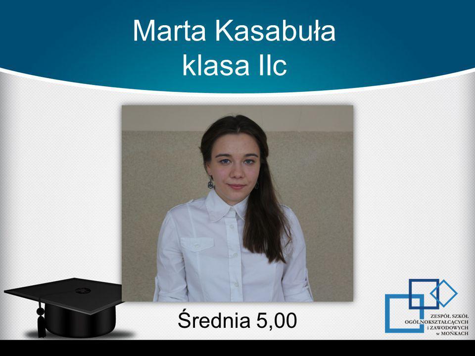Marta Kasabuła klasa IIc