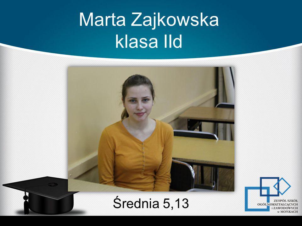 Marta Zajkowska klasa IId