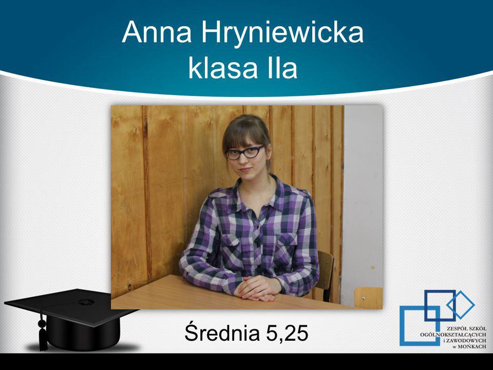Anna Hryniewicka klasa IIa