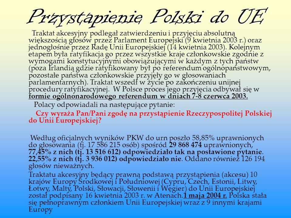 Przystapienie Polski do UE