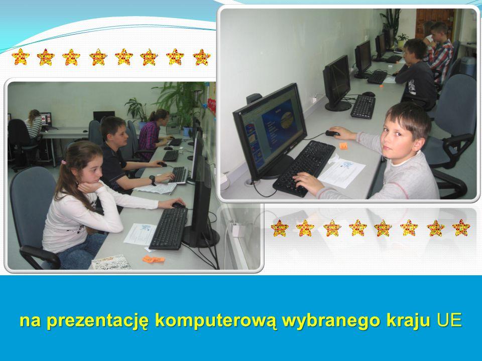 na prezentację komputerową wybranego kraju UE