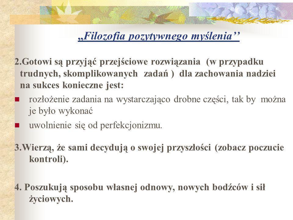 ,,Filozofia pozytywnego myślenia''