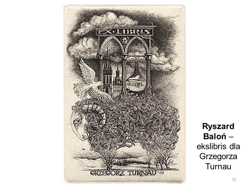 Ryszard Baloń – ekslibris dla Grzegorza Turnau