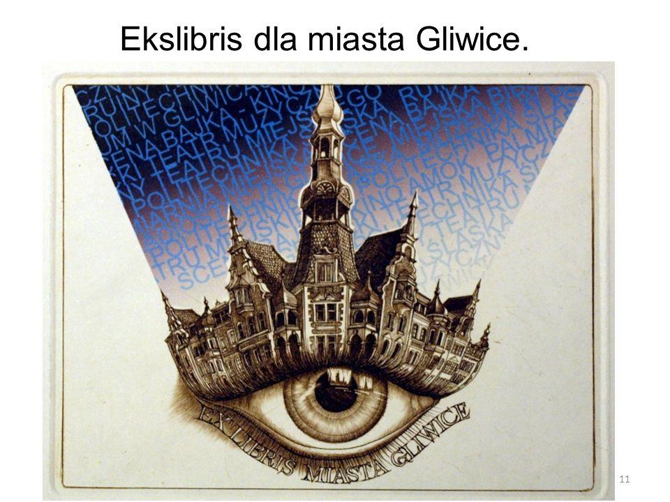 Ekslibris dla miasta Gliwice.