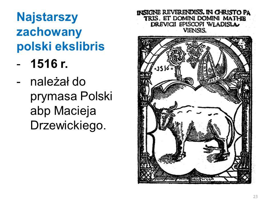 Najstarszy zachowany polski ekslibris