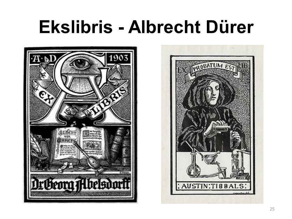 Ekslibris - Albrecht Dürer