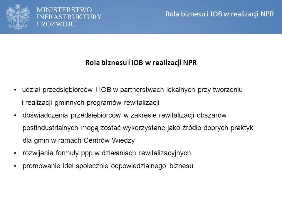 Rola biznesu i IOB w realizacji NPR