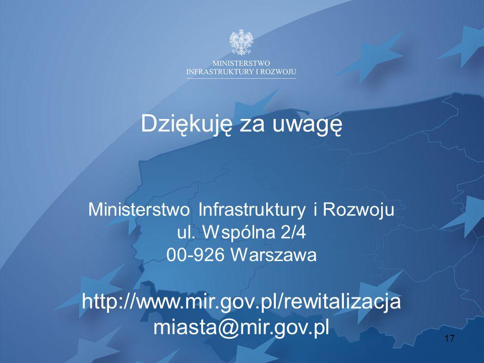 Ministerstwo Infrastruktury i Rozwoju ul. Wspólna 2/4