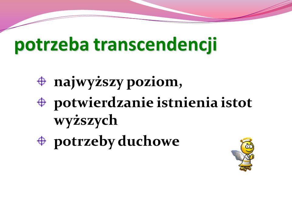 potrzeba transcendencji