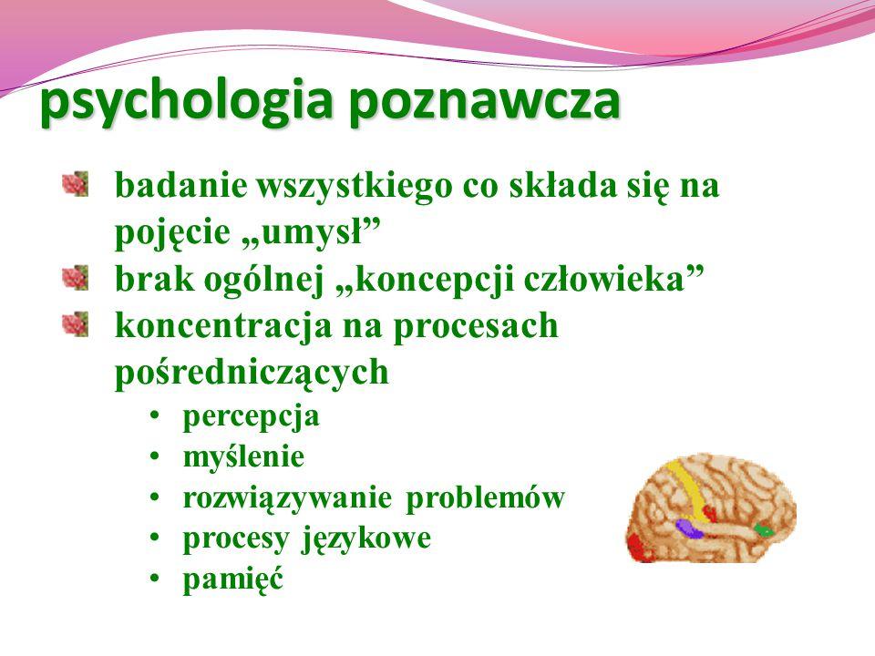psychologia poznawcza