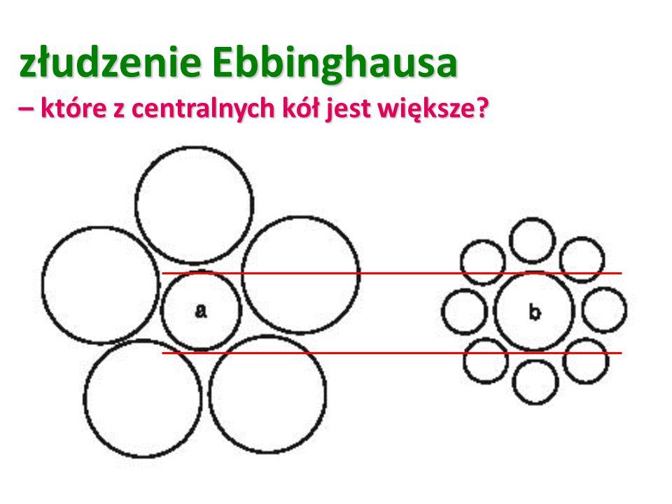 złudzenie Ebbinghausa – które z centralnych kół jest większe