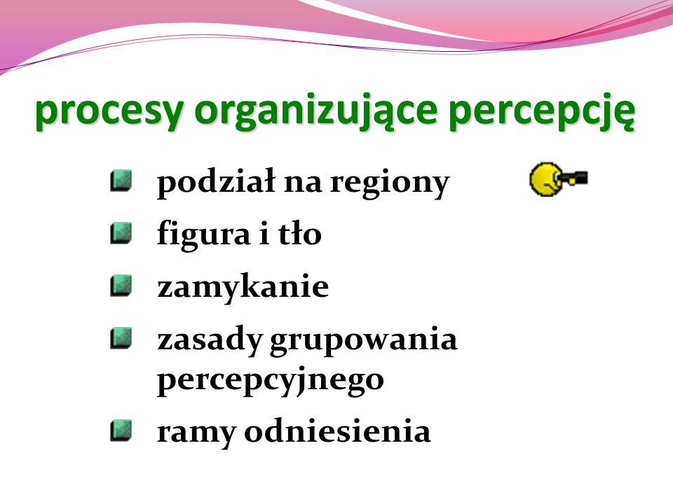 procesy organizujące percepcję