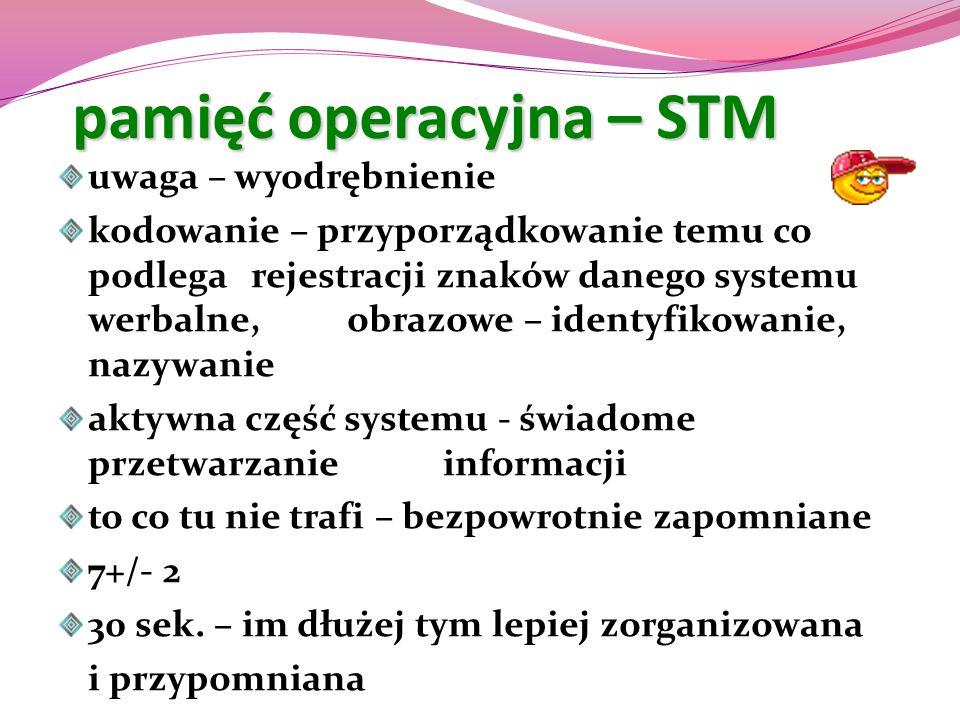 pamięć operacyjna – STM