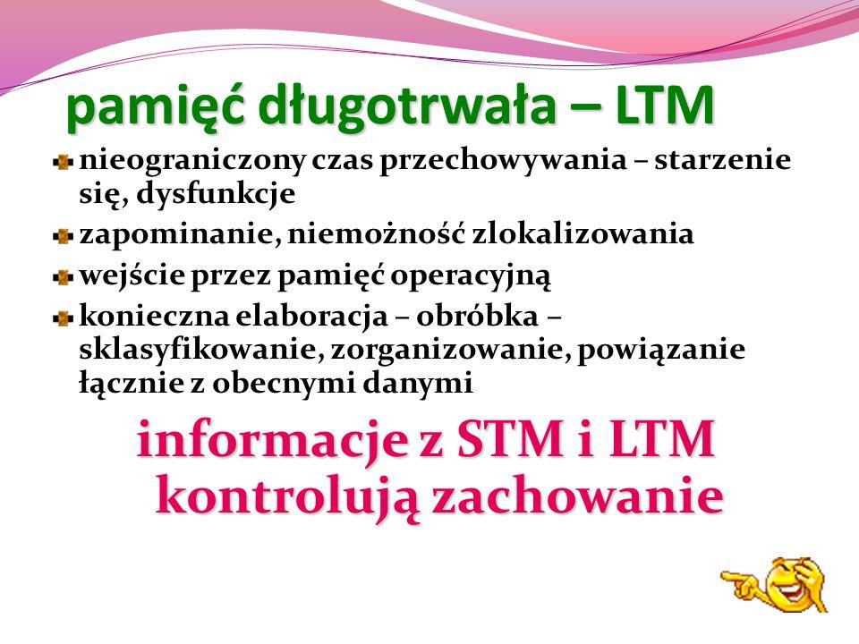 pamięć długotrwała – LTM